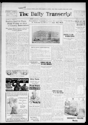The Daily Transcript  (Norman, Okla.), Vol. 7, No. 194, Ed. 1 Sunday, November 16, 1919