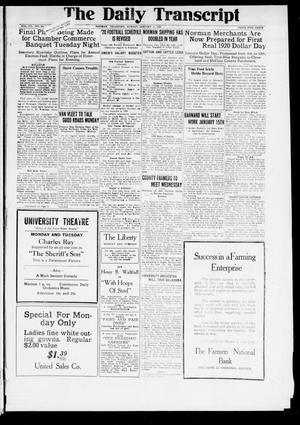 The Daily Transcript  (Norman, Okla.), Vol. 7, No. 240, Ed. 1 Sunday, January 11, 1920