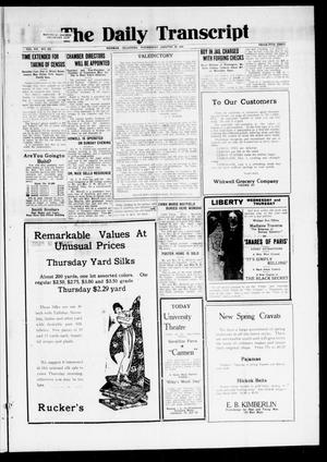 Primary view of object titled 'The Daily Transcript  (Norman, Okla.), Vol. 7, No. 255, Ed. 1 Wednesday, January 28, 1920'.