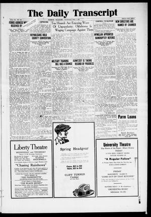 The Daily Transcript  (Norman, Okla.), Vol. 7, No. 262, Ed. 1 Thursday, February 5, 1920