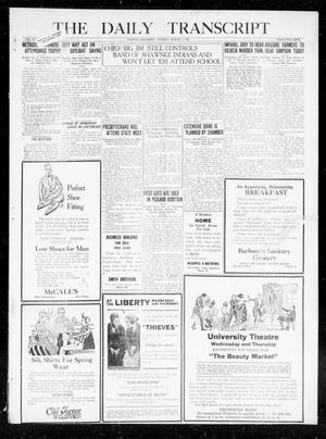 Primary view of object titled 'The Daily Transcript  (Norman, Okla.), Vol. 7, No. 284, Ed. 1 Tuesday, March 2, 1920'.