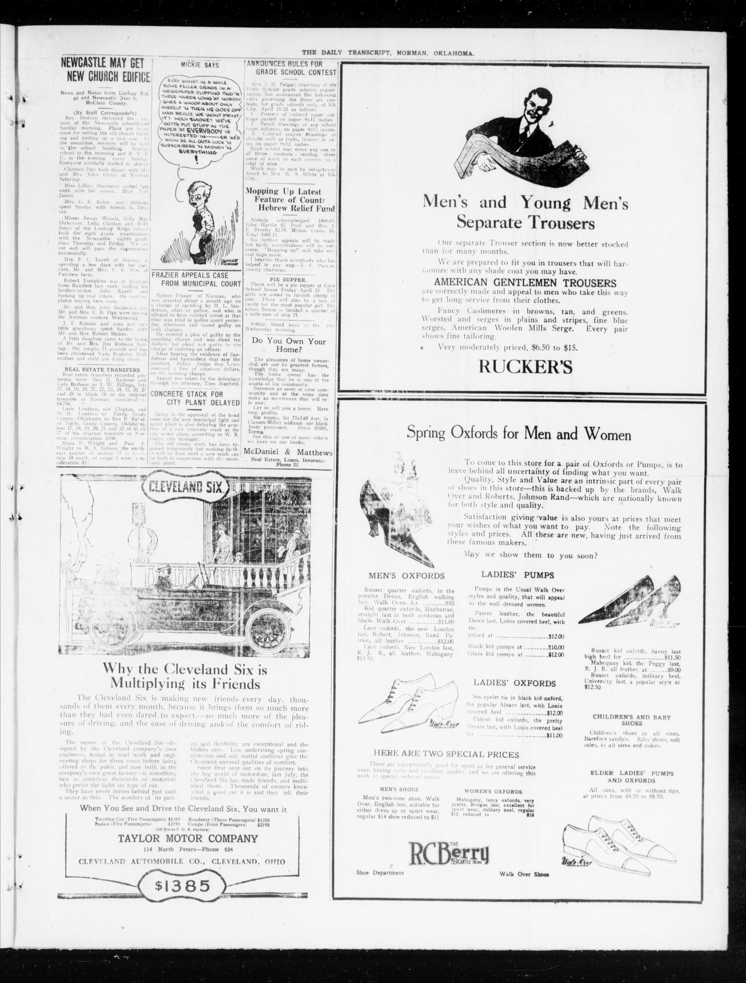 The Daily Transcript  (Norman, Okla.), Vol. 7, No. 327, Ed. 1 Wednesday, April 21, 1920                                                                                                      [Sequence #]: 3 of 4