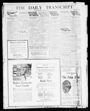 Primary view of object titled 'The Daily Transcript  (Norman, Okla.), Vol. 8, No. 9, Ed. 1 Sunday, May 2, 1920'.