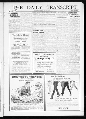 Primary view of object titled 'The Daily Transcript  (Norman, Okla.), Vol. 8, No. 22, Ed. 1 Monday, May 17, 1920'.