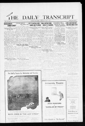 Primary view of object titled 'The Daily Transcript  (Norman, Okla.), Vol. 8, No. 24, Ed. 1 Wednesday, May 19, 1920'.