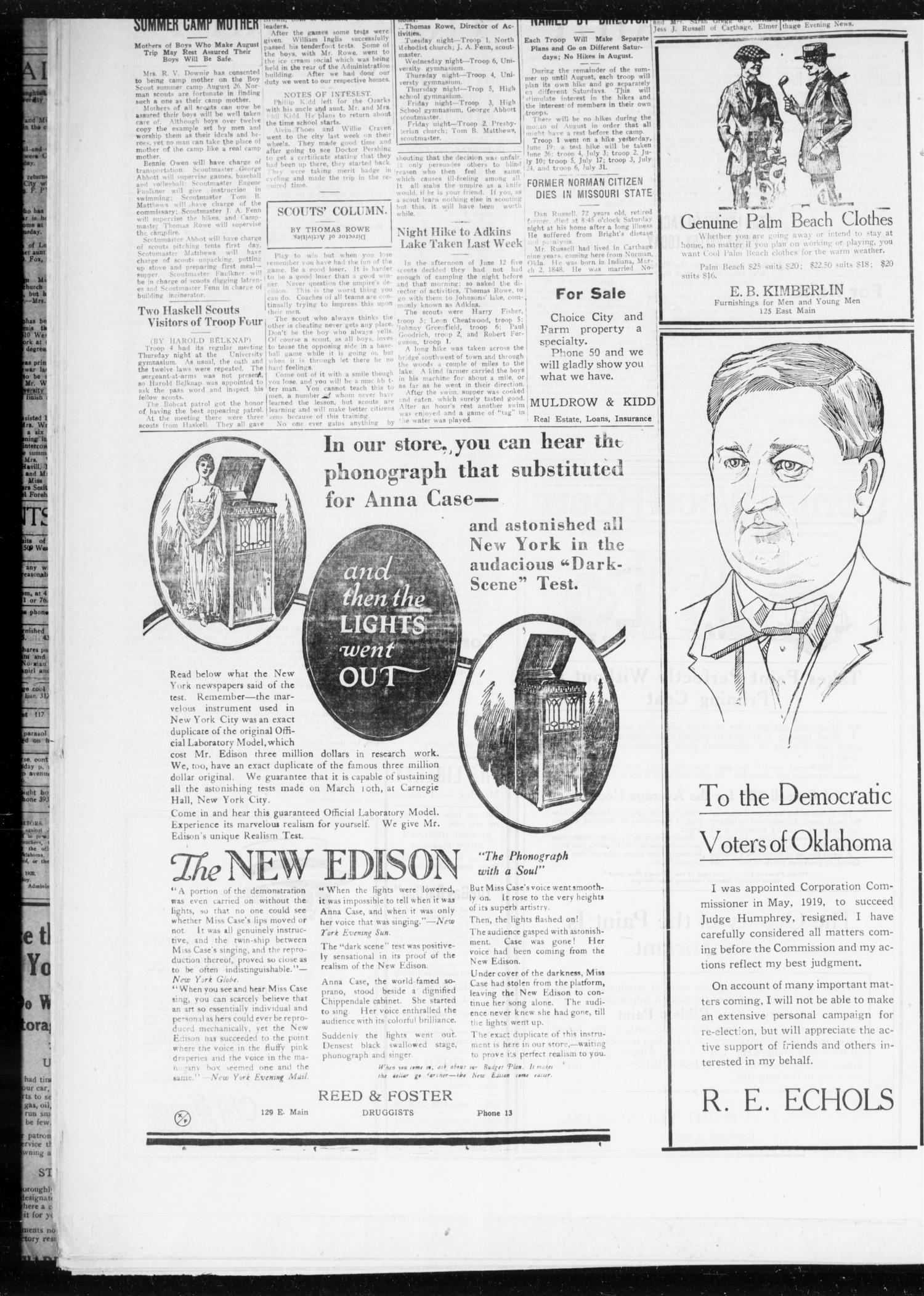 The Daily Transcript  (Norman, Okla.), Vol. 8, No. 51, Ed. 1 Sunday, June 20, 1920                                                                                                      [Sequence #]: 2 of 8