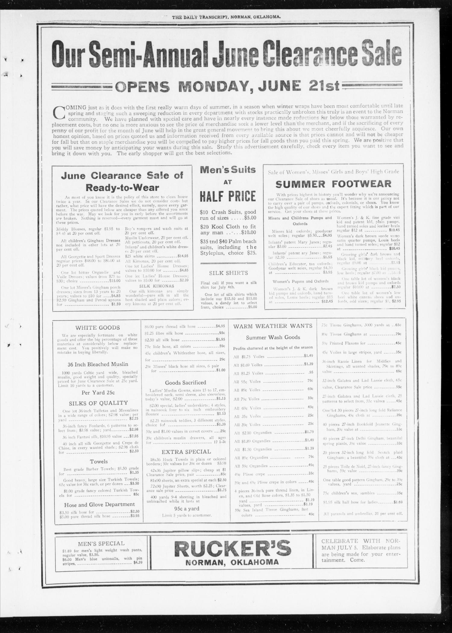 The Daily Transcript  (Norman, Okla.), Vol. 8, No. 51, Ed. 1 Sunday, June 20, 1920                                                                                                      [Sequence #]: 5 of 8