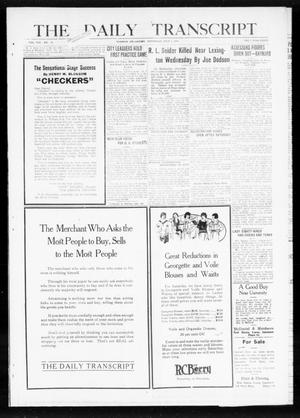 Primary view of object titled 'The Daily Transcript  (Norman, Okla.), Vol. 8, No. 61, Ed. 1 Thursday, July 1, 1920'.