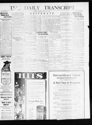 Primary view of object titled 'The Daily Transcript  (Norman, Okla.), Vol. 8, No. 63, Ed. 1 Sunday, July 4, 1920'.