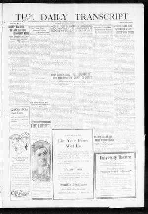 Primary view of object titled 'The Daily Transcript  (Norman, Okla.), Vol. 8, No. 67, Ed. 1 Friday, July 9, 1920'.