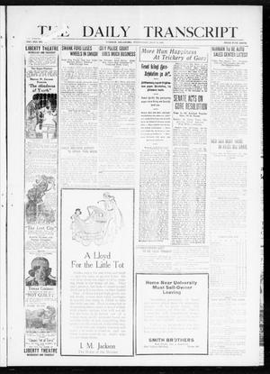 Primary view of object titled 'The Daily Transcript  (Norman, Okla.), Vol. 8, No. 71, Ed. 1 Wednesday, July 14, 1920'.