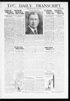 Primary view of object titled 'The Daily Transcript  (Norman, Okla.), Vol. 8, No. 81, Ed. 1 Monday, July 26, 1920'.