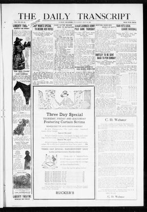 Primary view of object titled 'The Daily Transcript  (Norman, Okla.), Vol. 8, No. 83, Ed. 1 Wednesday, July 28, 1920'.