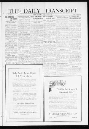 Primary view of object titled 'The Daily Transcript  (Norman, Okla.), Vol. 8, No. 92, Ed. 1 Sunday, August 8, 1920'.