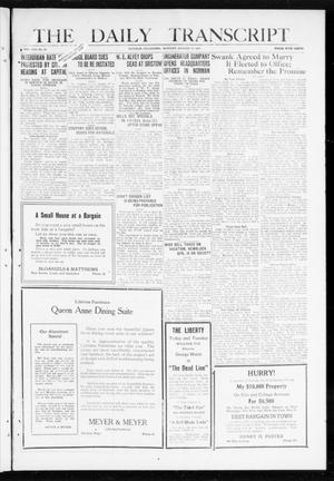 Primary view of object titled 'The Daily Transcript  (Norman, Okla.), Vol. 8, No. 99, Ed. 1 Monday, August 16, 1920'.