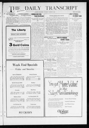 The Daily Transcript  (Norman, Okla.), Vol. 8, No. 108, Ed. 1 Thursday, August 26, 1920