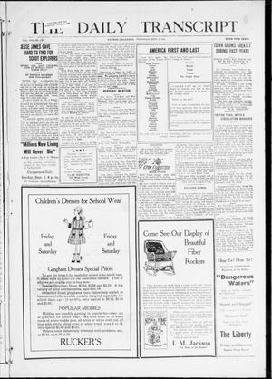 Primary view of object titled 'The Daily Transcript  (Norman, Okla.), Vol. 8, No. 114, Ed. 1 Thursday, September 2, 1920'.