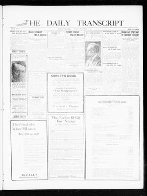 Primary view of object titled 'The Daily Transcript  (Norman, Okla.), Vol. 8, No. 123, Ed. 1 Tuesday, September 14, 1920'.