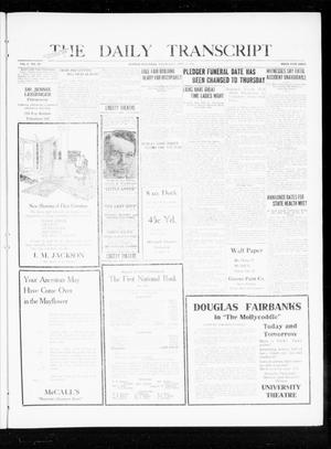 Primary view of object titled 'The Daily Transcript  (Norman, Okla.), Vol. 8, No. 124, Ed. 1 Wednesday, September 15, 1920'.