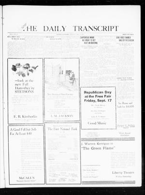 The Daily Transcript  (Norman, Okla.), Vol. 8, No. 125, Ed. 1 Thursday, September 16, 1920