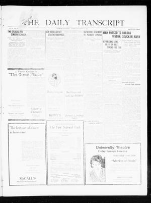 Primary view of object titled 'The Daily Transcript  (Norman, Okla.), Vol. 8, No. 126, Ed. 1 Friday, September 17, 1920'.