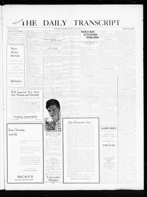 Primary view of object titled 'The Daily Transcript  (Norman, Okla.), Vol. 8, No. 128, Ed. 1 Monday, September 20, 1920'.