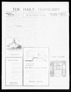 Primary view of object titled 'The Daily Transcript  (Norman, Okla.), Vol. 8, No. 132, Ed. 1 Friday, September 24, 1920'.