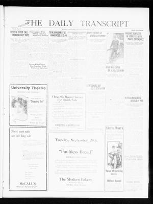 Primary view of object titled 'The Daily Transcript  (Norman, Okla.), Vol. 8, No. 134, Ed. 1 Monday, September 27, 1920'.