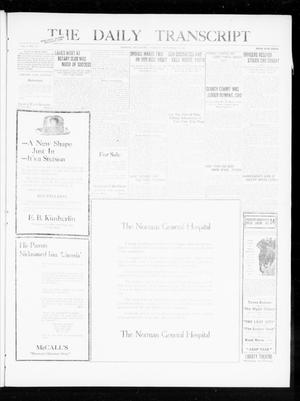 Primary view of object titled 'The Daily Transcript  (Norman, Okla.), Vol. 8, No. 135, Ed. 1 Tuesday, September 28, 1920'.