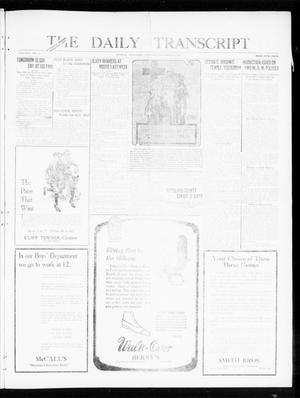 Primary view of object titled 'The Daily Transcript  (Norman, Okla.), Vol. 8, No. 137, Ed. 1 Thursday, September 30, 1920'.