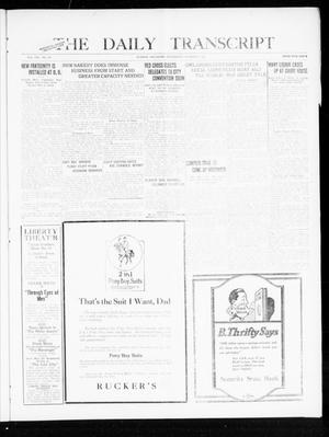 Primary view of object titled 'The Daily Transcript  (Norman, Okla.), Vol. 8, No. 142, Ed. 1 Wednesday, October 6, 1920'.