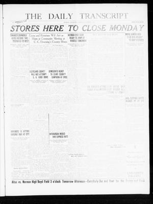 Primary view of object titled 'The Daily Transcript  (Norman, Okla.), Vol. 8, No. 143, Ed. 1 Thursday, October 7, 1920'.