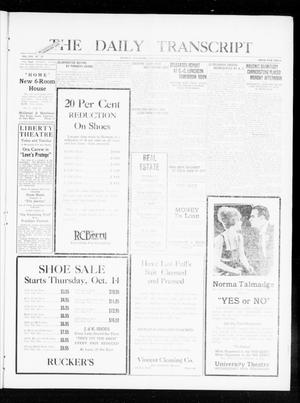 Primary view of object titled 'The Daily Transcript  (Norman, Okla.), Vol. 8, No. 147, Ed. 1 Tuesday, October 12, 1920'.