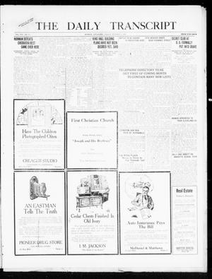 Primary view of object titled 'The Daily Transcript  (Norman, Okla.), Vol. 8, No. 151, Ed. 1 Sunday, October 17, 1920'.