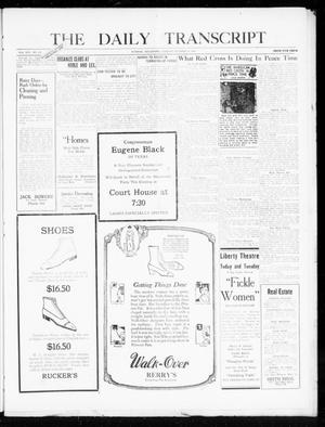 Primary view of object titled 'The Daily Transcript  (Norman, Okla.), Vol. 8, No. 153, Ed. 1 Tuesday, October 19, 1920'.