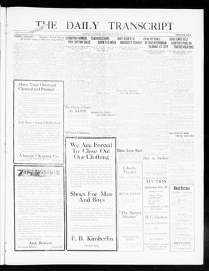 Primary view of object titled 'The Daily Transcript  (Norman, Okla.), Vol. 8, No. 161, Ed. 1 Thursday, October 28, 1920'.