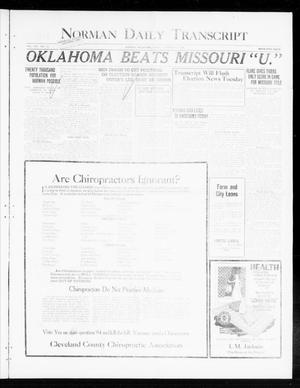 Primary view of object titled 'Norman Daily Transcript  (Norman, Okla.), Vol. 8, No. 163, Ed. 1 Sunday, October 31, 1920'.
