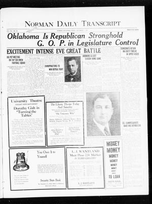 Primary view of object titled 'Norman Daily Transcript  (Norman, Okla.), Vol. 8, No. 168, Ed. 1 Friday, November 5, 1920'.
