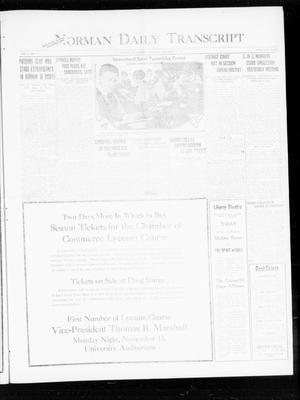 Primary view of object titled 'Norman Daily Transcript  (Norman, Okla.), Vol. 8, No. 173, Ed. 1 Thursday, November 11, 1920'.