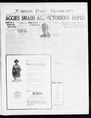 Primary view of object titled 'Norman Daily Transcript  (Norman, Okla.), Vol. 8, No. 181, Ed. 1 Sunday, November 21, 1920'.