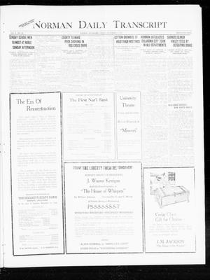 Primary view of object titled 'Norman Daily Transcript  (Norman, Okla.), Vol. 8, No. 186, Ed. 1 Friday, November 26, 1920'.