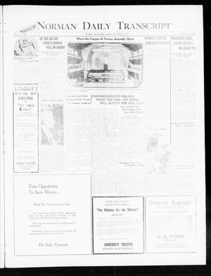 Primary view of object titled 'Norman Daily Transcript  (Norman, Okla.), Vol. 8, No. 188, Ed. 1 Monday, November 29, 1920'.