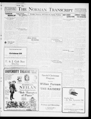 Primary view of The Norman Transcript  (Norman, Okla.), Vol. 9, No. 153, Ed. 1 Thursday, December 22, 1921