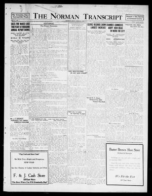 Primary view of object titled 'The Norman Transcript  (Norman, Okla.), Vol. 10, No. 1, Ed. 1 Sunday, January 1, 1922'.