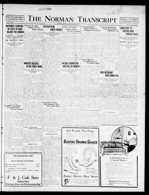 Primary view of object titled 'The Norman Transcript  (Norman, Okla.), Vol. 10, No. 7, Ed. 1 Sunday, January 15, 1922'.