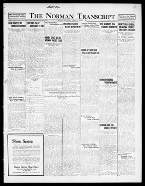 Primary view of object titled 'The Norman Transcript  (Norman, Okla.), Vol. 10, No. 27, Ed. 1 Thursday, March 2, 1922'.