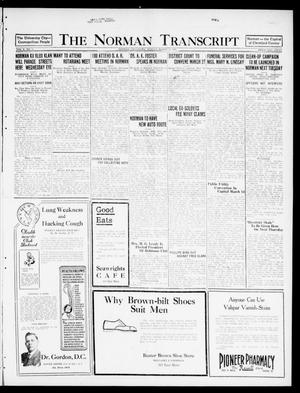 Primary view of object titled 'The Norman Transcript  (Norman, Okla.), Vol. 10, No. 31, Ed. 1 Sunday, March 12, 1922'.