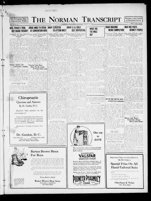 Primary view of object titled 'The Norman Transcript  (Norman, Okla.), Vol. 10, No. 36, Ed. 1 Thursday, March 23, 1922'.
