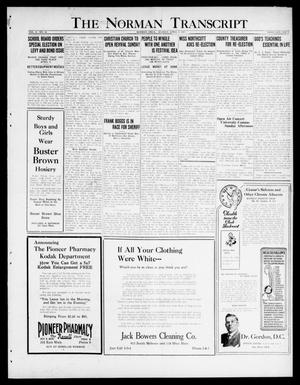 Primary view of object titled 'The Norman Transcript  (Norman, Okla.), Vol. 10, No. 40, Ed. 1 Sunday, April 2, 1922'.