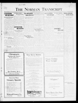 Primary view of object titled 'The Norman Transcript  (Norman, Okla.), Vol. 10, No. 41, Ed. 1 Tuesday, April 4, 1922'.